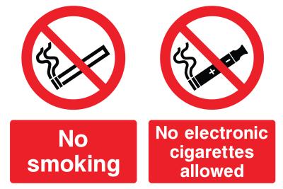 No Smoking No Electronic Cigarettes Allowed Sign