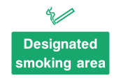 Designatet Smoking Area Sign