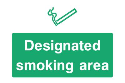 Designatet Smoking Area Sign