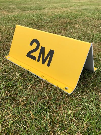 Yellow 2m Social Distance Sign