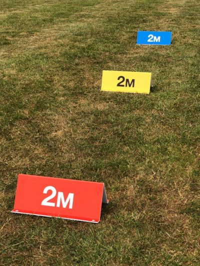 2m distance outdoor signs