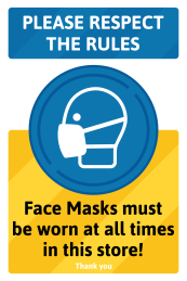 Face masks must be worn in this store