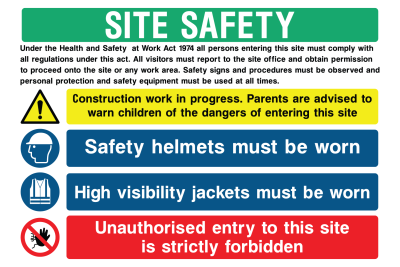 Site Safety Generic Sign