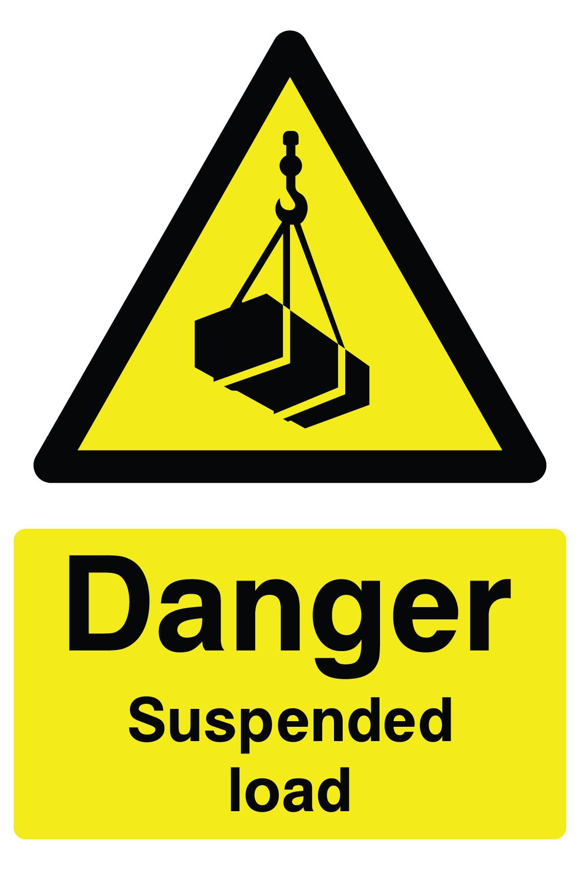 Danger Suspended Load Sign