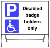 Disabled Badge Only Parking Sign