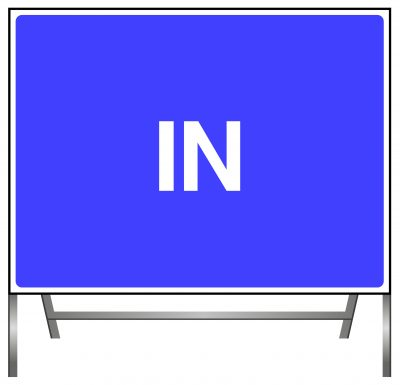 Traffic Direction Sign - IN