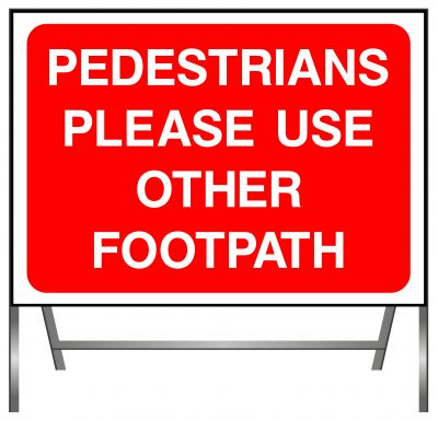Pedestrians use other footpath sign