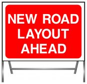 New Road Layout Ahead Sign