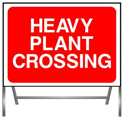 Heavy Plant Crossing sign