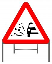 Loose Chippings Warning Sign
