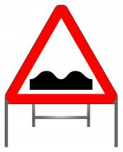 Uneven road warning sign