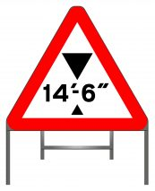 Vehicle Height restriction sign