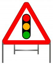 Traffic signals warning sign