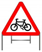 Cycle Route Ahead sign