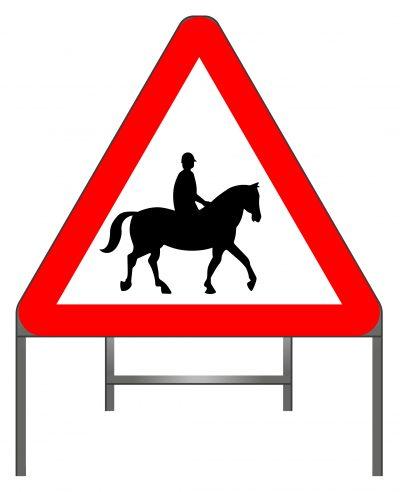 Horse Riding Warning sign
