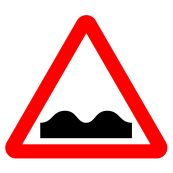Uneven Road Traffic Sign TEST