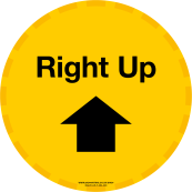 Right Up Yellow Floor Sticker
