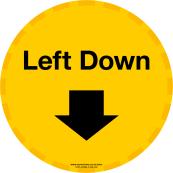 Left down floor sitcker