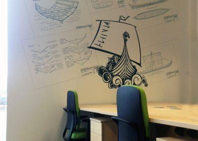 Custom Business Printed wallpaper